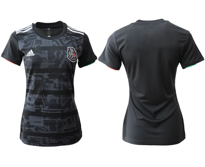 Women 2019-2020 Season National Team Mexico home aaa version black Soccer Jerseys