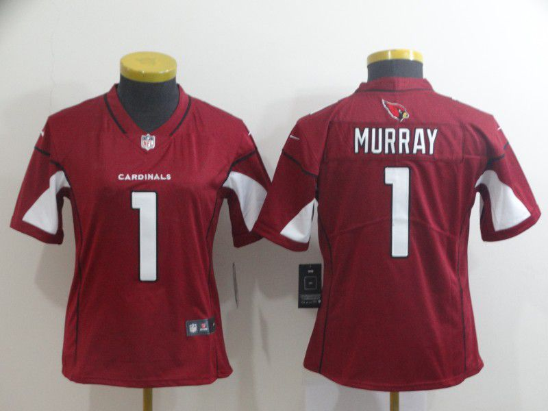 Women Arizona Cardinals 1 Murray Red Nike Vapor Untouchable NFL Jerseys