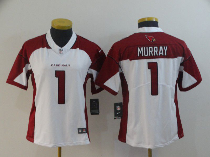 Women Arizona Cardinals 1 Murray White Nike Vapor Untouchable Limited Player NFL Jerseys