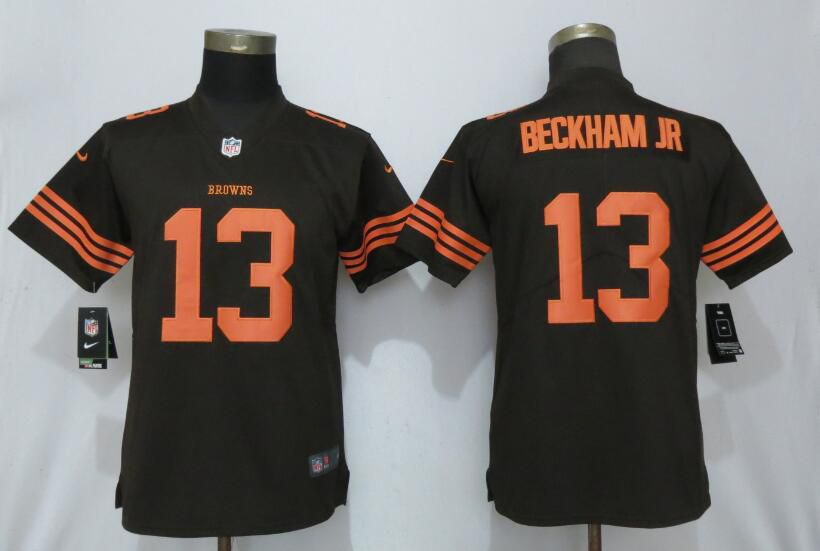 Women Cleveland Browns 13 Beckham jr Pick Nike Vapor Untouchable Player NFL Jerseys