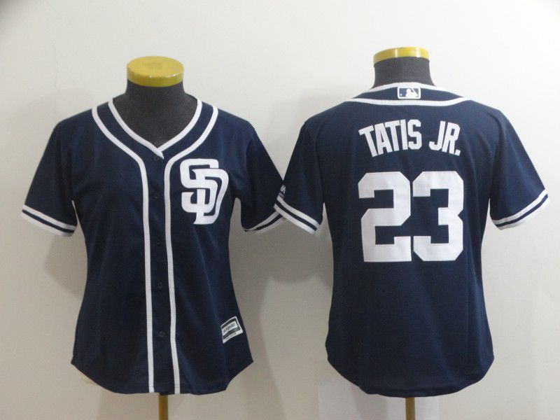 Women San Diego Padres 23 Tatis jr Blue MLB Jerseys