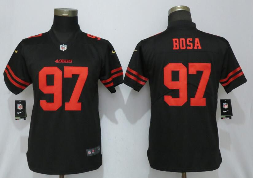 Women San Francisco 49ers 97 Bosa Black Nike Vapor Untouchable Player NFL Jerseys