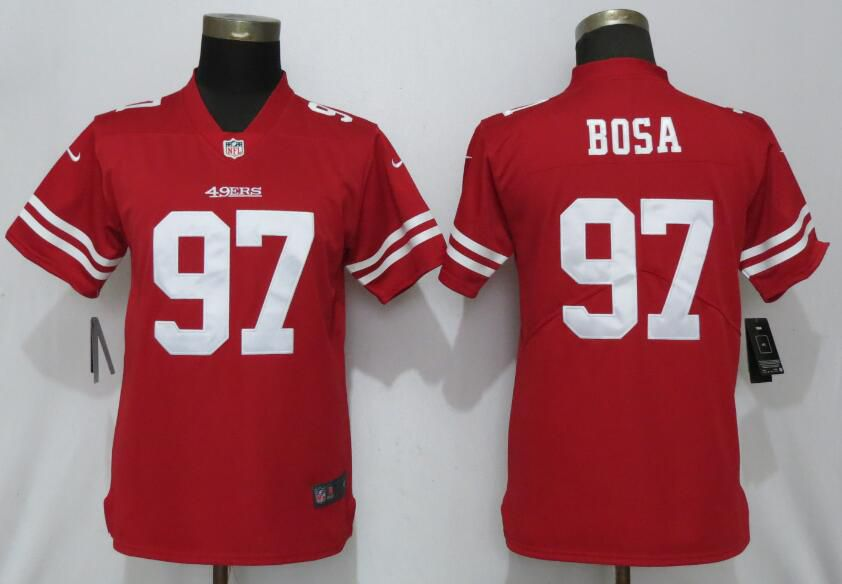 Women San Francisco 49ers 97 Bosa Red Nike Vapor Untouchable Player NFL Jerseys