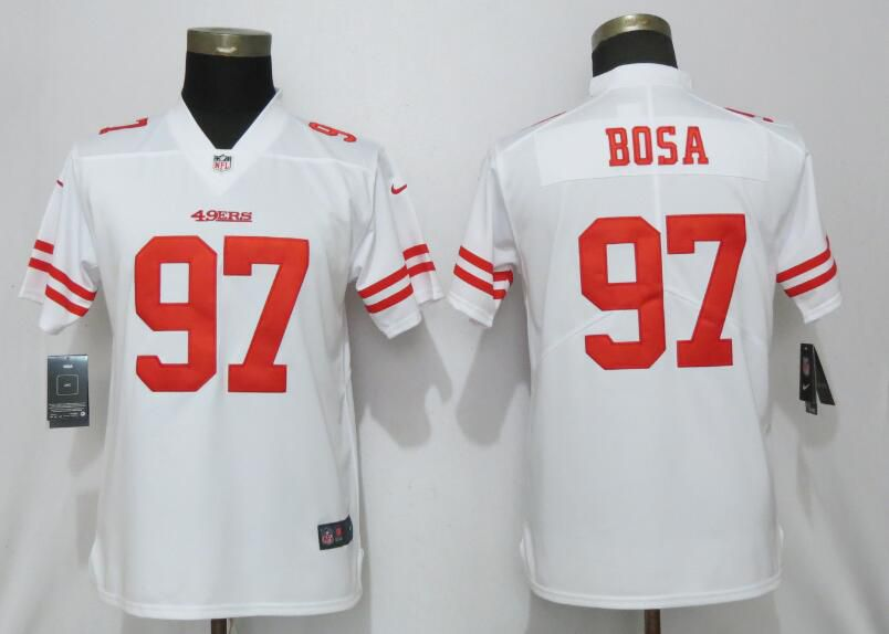 88ffc92ec Women San Francisco 49ers 97 Bosa White Nike Vapor Untouchable Player NFL  Jerseys