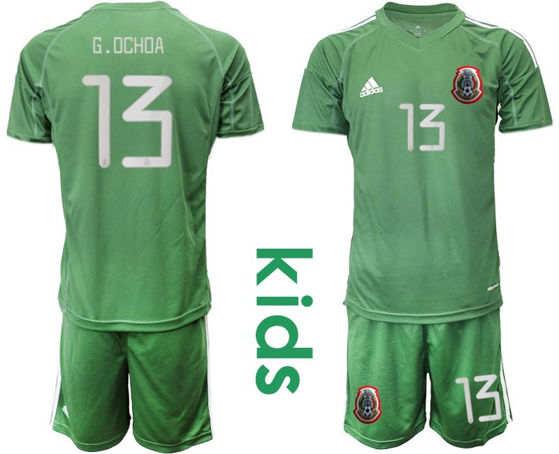 Youth 2019-2020 Season National Team Mexico army green goalkeeper 13 Soccer Jerseys