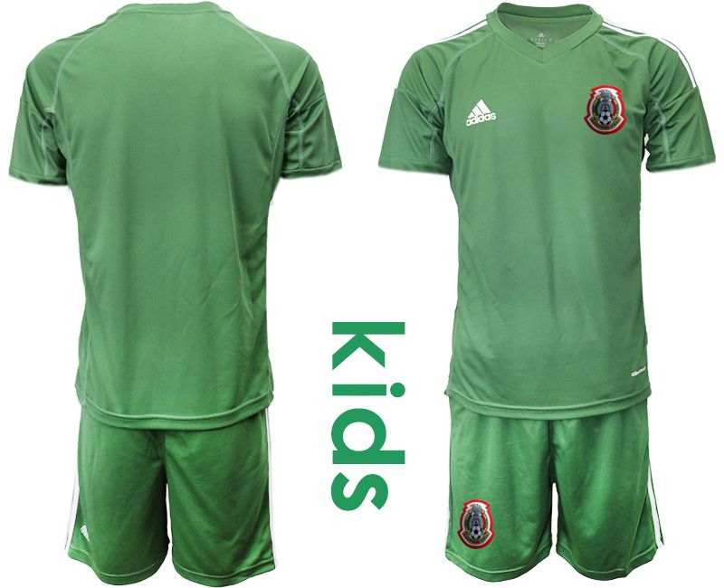 Youth 2019-2020 Season National Team Mexico army green goalkeeper Soccer Jerseys