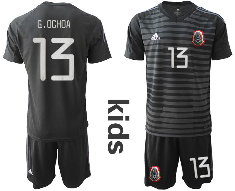 Youth 2019-2020 Season National Team Mexico black goalkeeper 13 Soccer Jerseys