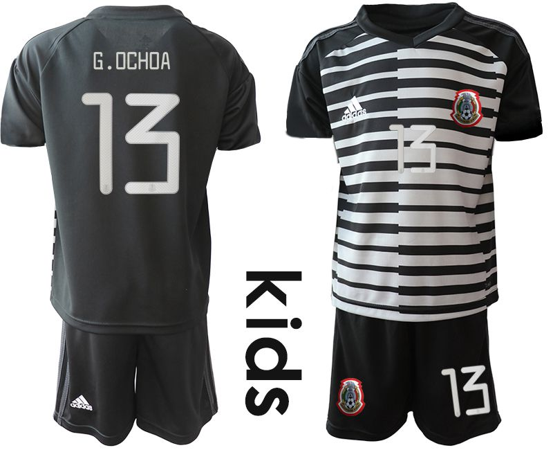 Youth 2019-2020 Season National Team Mexico black goalkeeper 13 Soccer Jerseys1