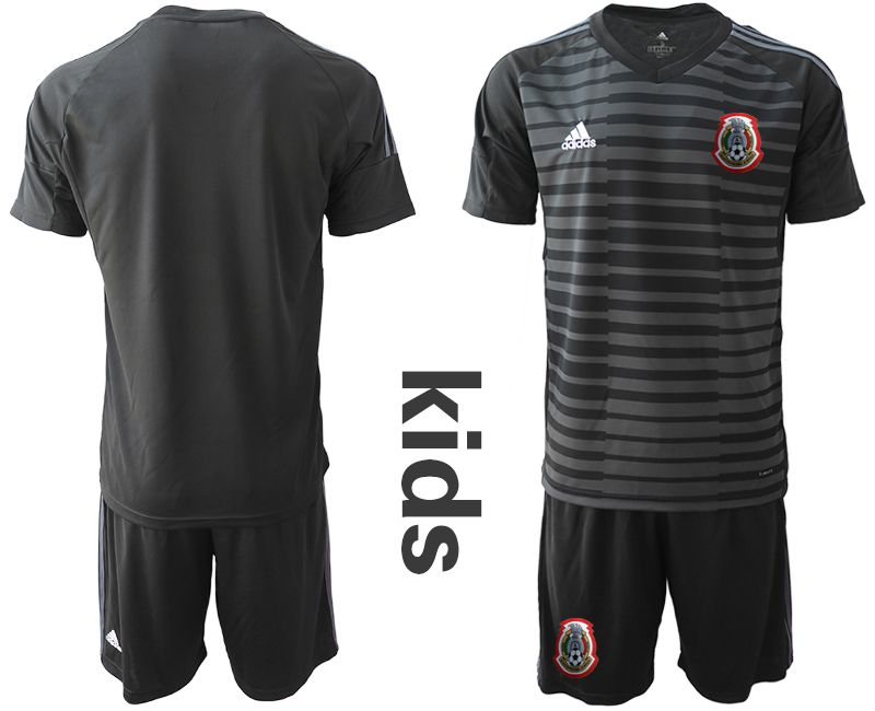 Youth 2019-2020 Season National Team Mexico black goalkeeper Soccer Jerseys