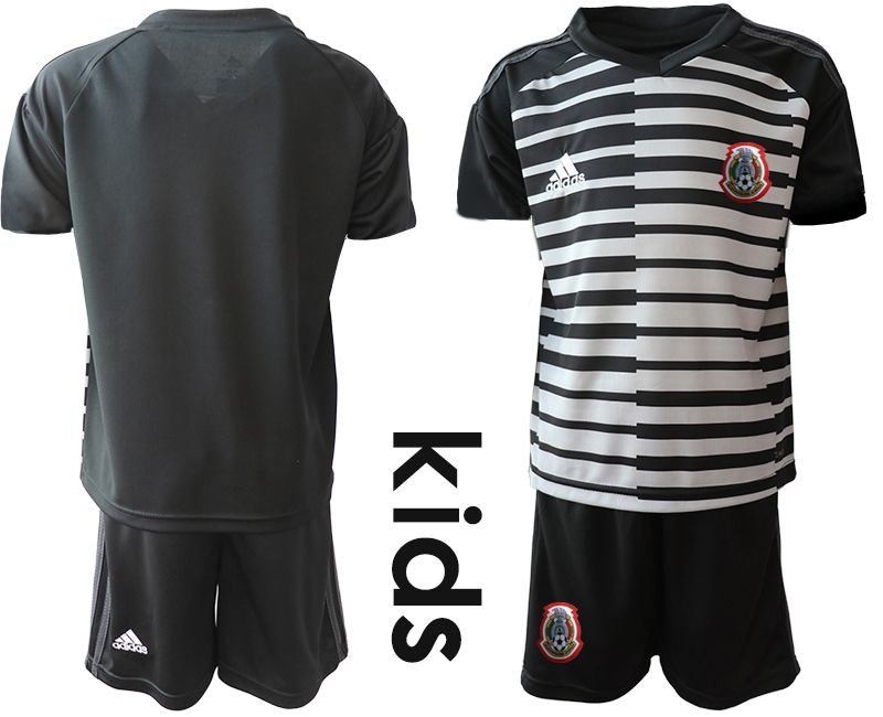 Youth 2019-2020 Season National Team Mexico black goalkeeper Soccer Jerseys1