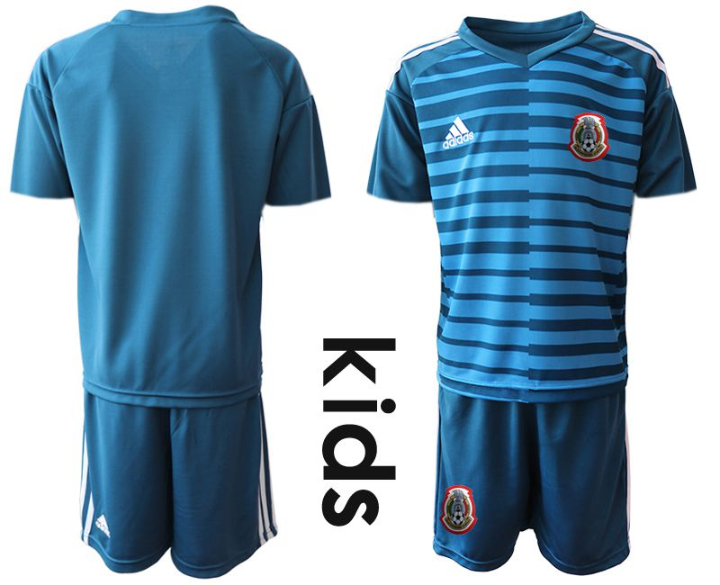 Youth 2019-2020 Season National Team Mexico blue goalkeeper Soccer Jerseys