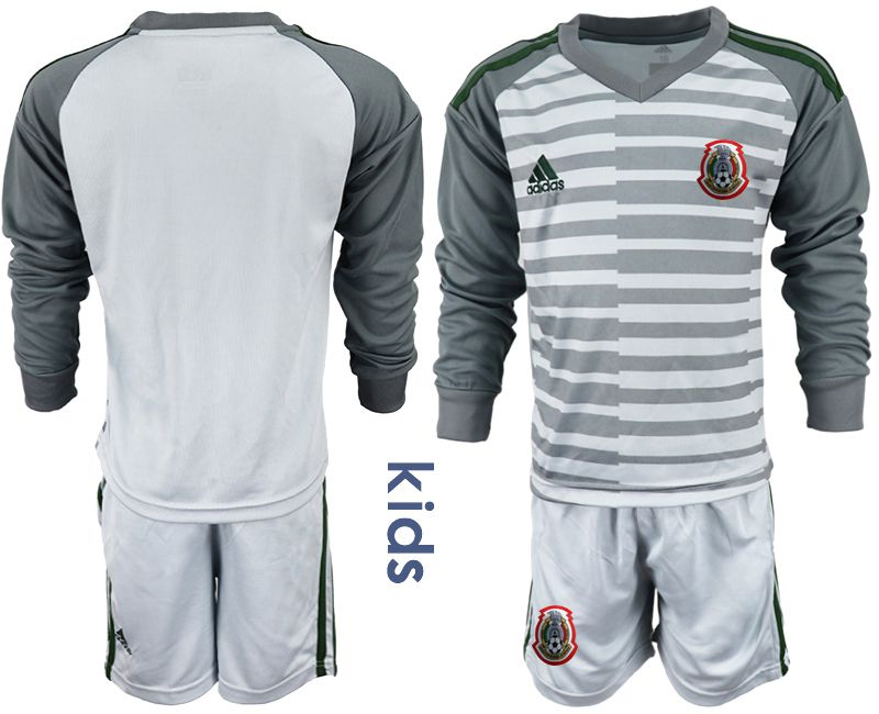 Youth 2019-2020 Season National Team Mexico gray long sleeve goalkeeper Soccer Jerseys