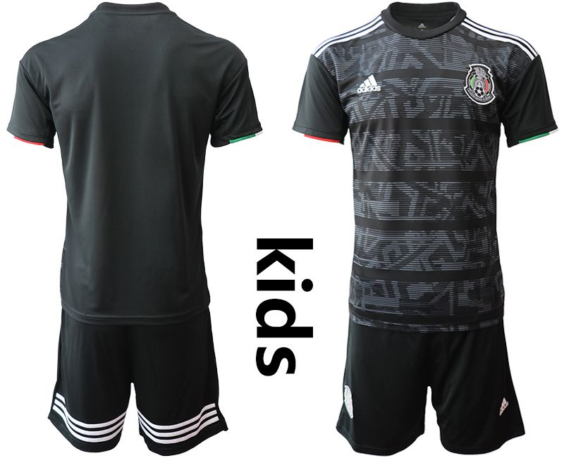 Youth 2019-2020 Season National Team Mexico home black Soccer Jerseys