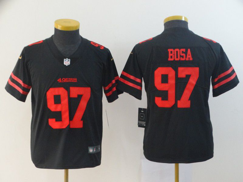 Youth San Francisco 49ers 97 Bosa Black Nike Vapor Untouchable Player NFL Jerseys