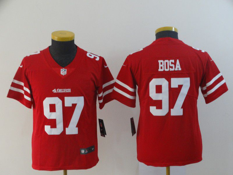 Youth San Francisco 49ers 97 Bosa Red Nike Vapor Untouchable Limited Player NFL Jerseys