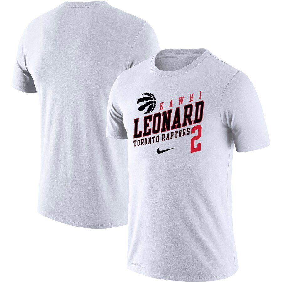 2019 Men Toronto Raptors 2 Leonard white NBA Nike T shirt