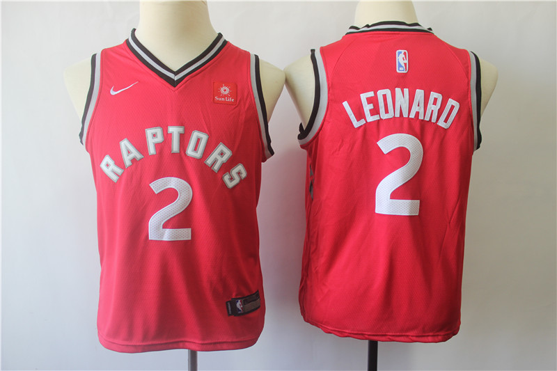 2019 Youth Toronto Raptors 2 Leonard Red Game Nike NBA Jerseys