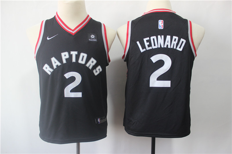 2019 Youth Toronto Raptors 2 Leonard black Game Nike NBA Jerseys