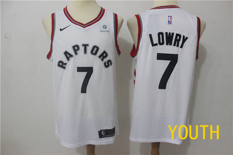 2019 Youth Toronto Raptors 7 Lowry white Game Nike NBA Jerseys