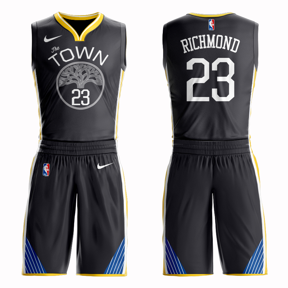 Men 2019 NBA Nike Golden State Warriors 23 Richmond black Customized jersey