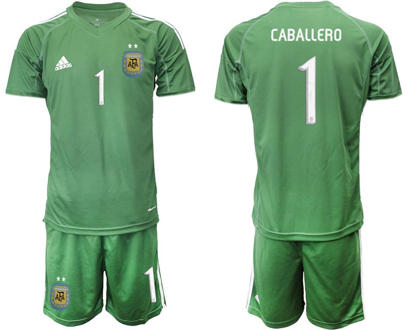 Men 2019-2020 Season National Team Argentina army green goalkeeper 1 Soccer Jerseys