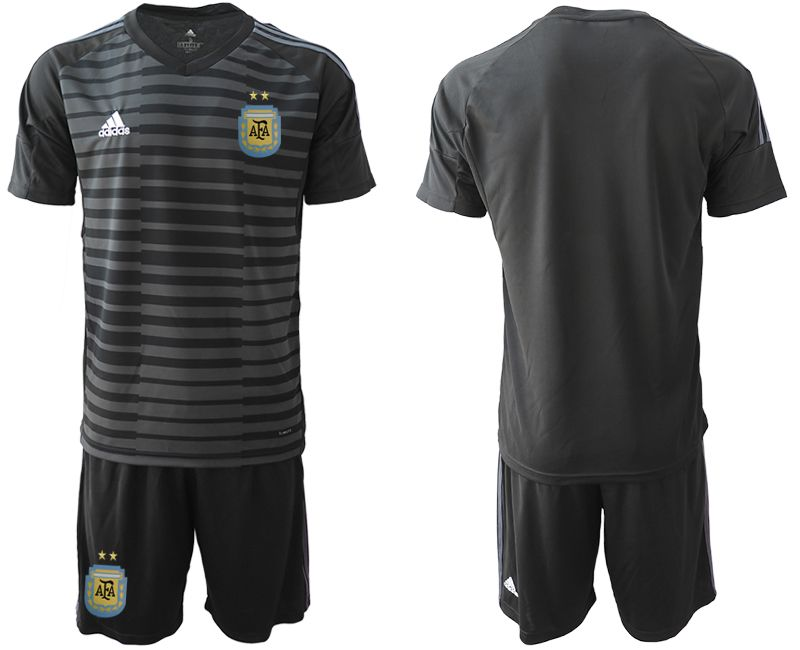 Men 2019-2020 Season National Team Argentina black goalkeeper Soccer Jerseys