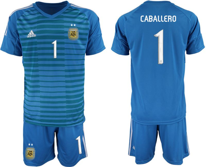 Men 2019-2020 Season National Team Argentina blue goalkeeper 1 Soccer Jerseys