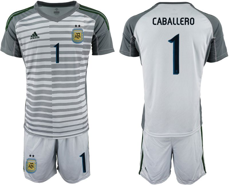 Men 2019-2020 Season National Team Argentina gray goalkeeper 1 Soccer Jerseys