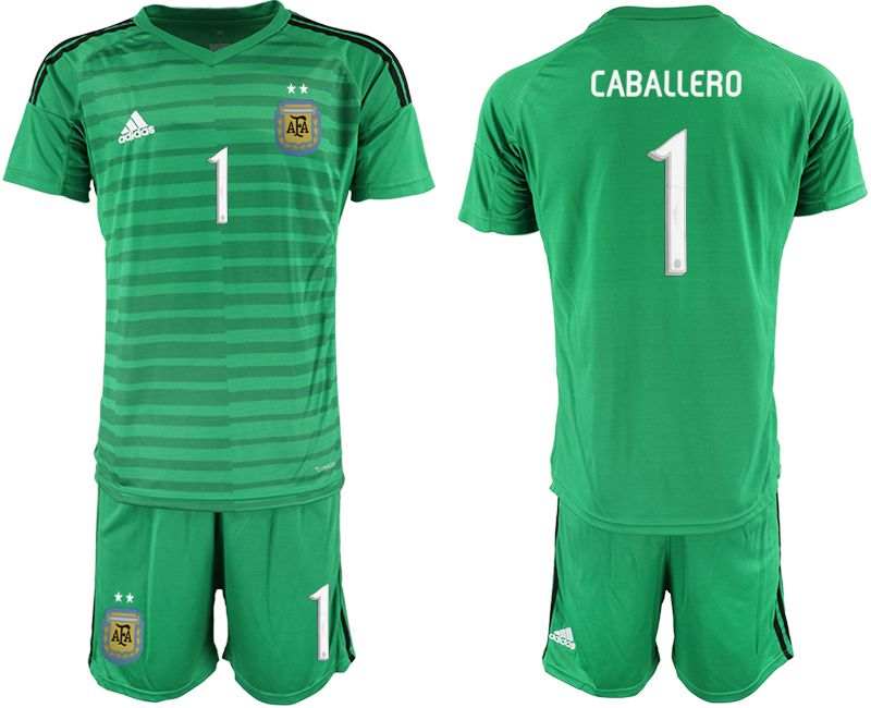 Men 2019-2020 Season National Team Argentina green goalkeeper 1 Soccer Jerseys2
