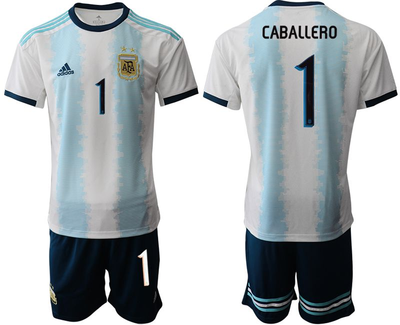 Men 2019-2020 Season National Team Argentina home 1 blue Soccer Jerseys