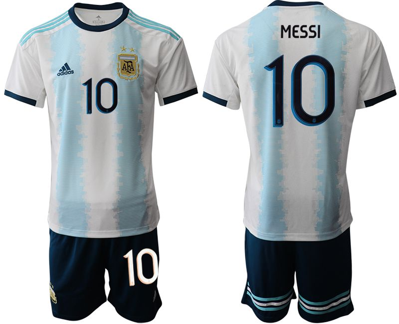 Men 2019-2020 Season National Team Argentina home 10 blue Soccer Jerseys