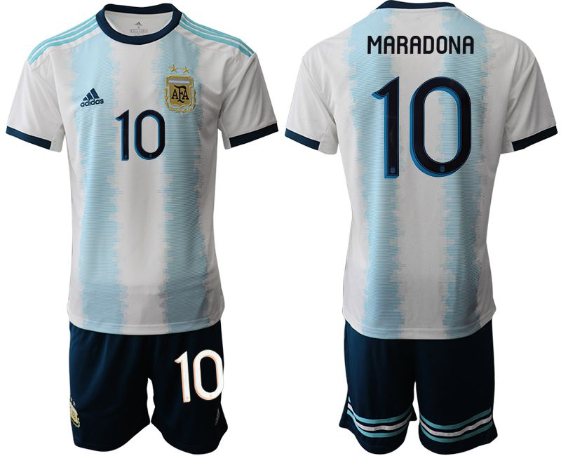 Men 2019-2020 Season National Team Argentina home 10 blue Soccer Jerseys1