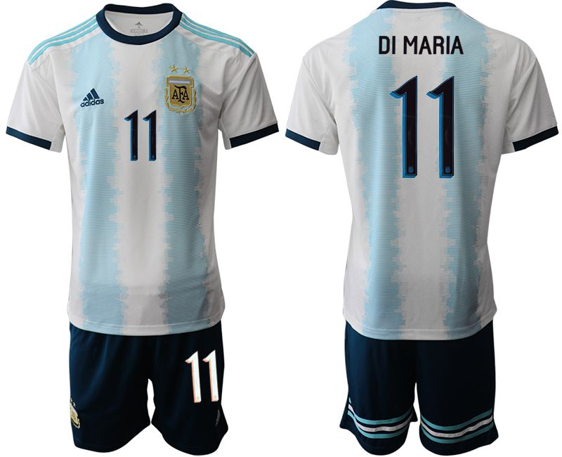 Men 2019-2020 Season National Team Argentina home 11 blue Soccer Jerseys