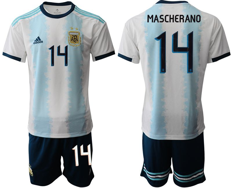 Men 2019-2020 Season National Team Argentina home 14 blue Soccer Jerseys