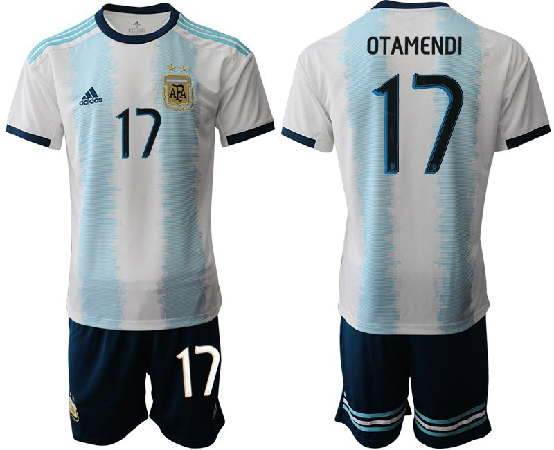 Men 2019-2020 Season National Team Argentina home 17 blue Soccer Jerseys