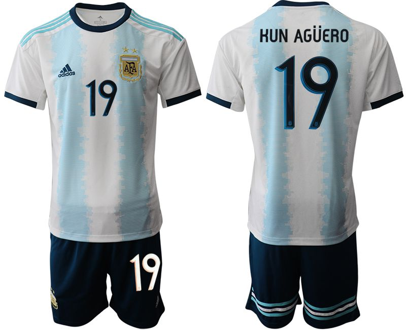 Men 2019-2020 Season National Team Argentina home 19 blue Soccer Jerseys