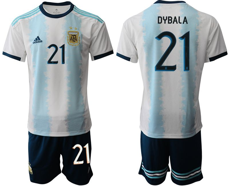 Men 2019-2020 Season National Team Argentina home 21 blue Soccer Jerseys