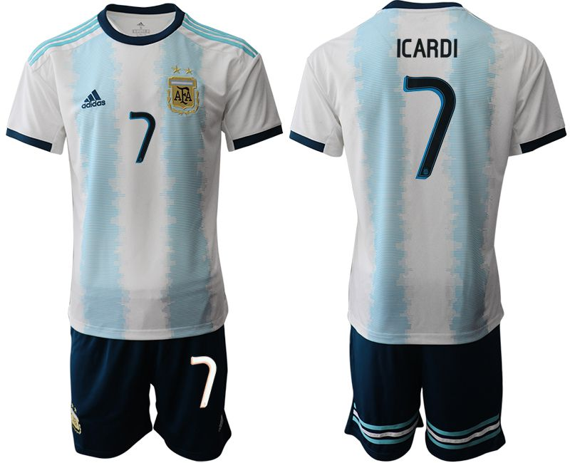 Men 2019-2020 Season National Team Argentina home 7 blue Soccer Jerseys