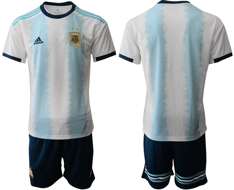 Men 2019-2020 Season National Team Argentina home blue Soccer Jerseys