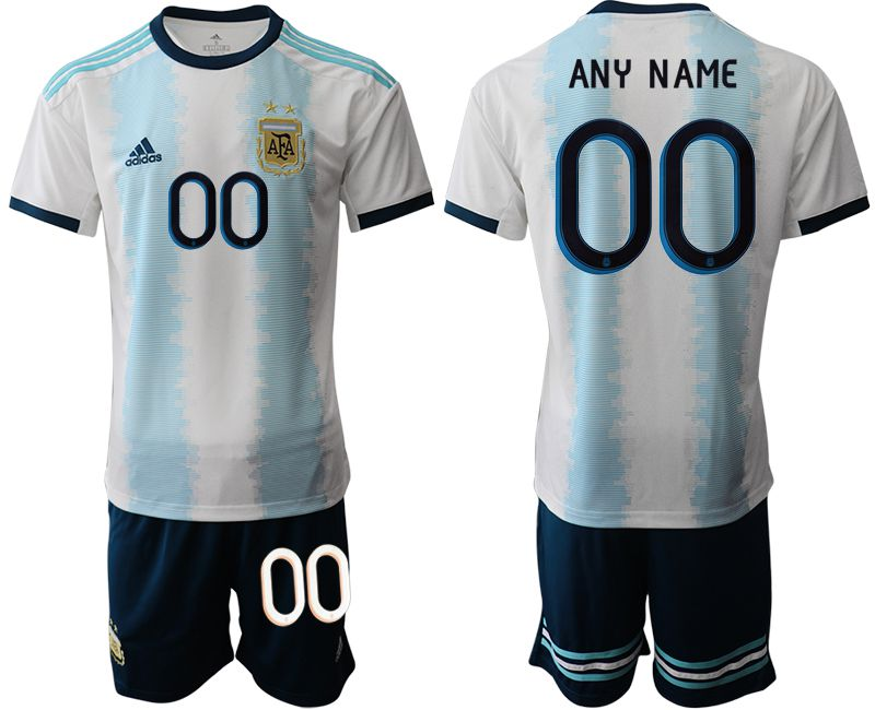 Men 2019-2020 Season National Team Argentina home customized blue Soccer Jerseys