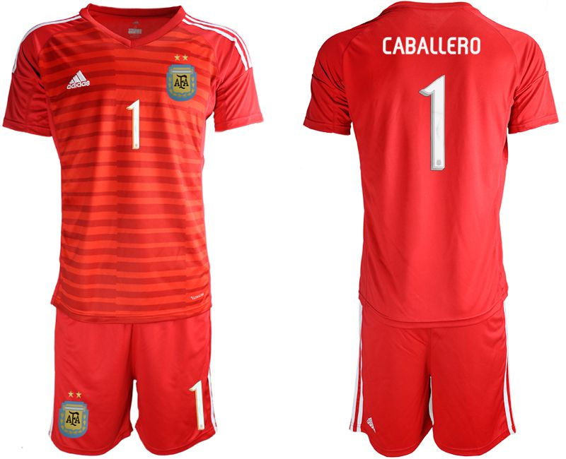 Men 2019-2020 Season National Team Argentina red goalkeeper 1 Soccer Jerseys