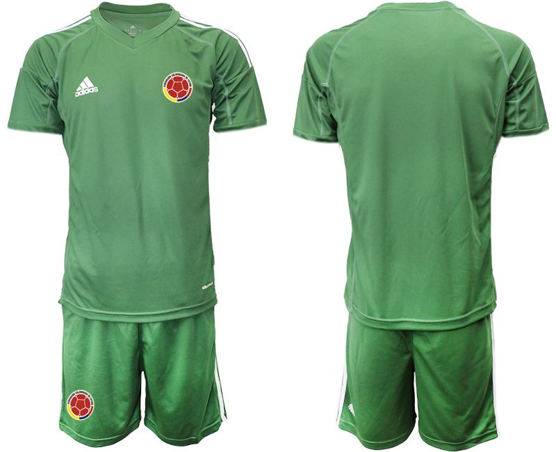 Men 2019-2020 Season National Team Colombia army green goalkeeper Soccer Jerseys