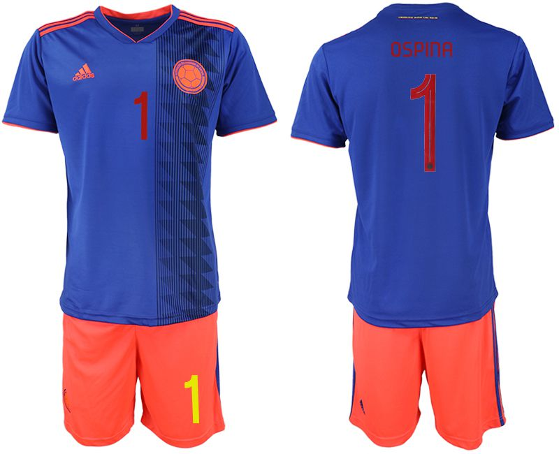 Men 2019-2020 Season National Team Colombia away 1 blue Soccer Jerseys