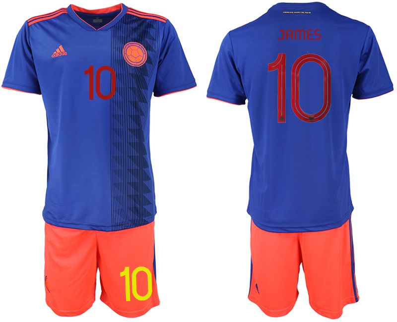 Men 2019-2020 Season National Team Colombia away 10 blue Soccer Jerseys