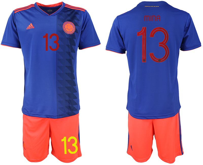 Men 2019-2020 Season National Team Colombia away 13 blue Soccer Jerseys