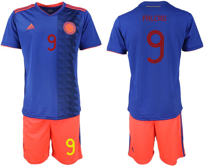 Men 2019-2020 Season National Team Colombia away 9 blue Soccer Jerseys