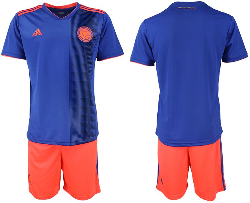 Men 2019-2020 Season National Team Colombia away blue Soccer Jerseys