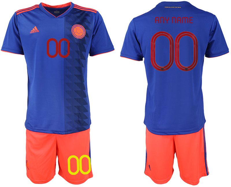 Men 2019-2020 Season National Team Colombia away customized blue Soccer Jerseys