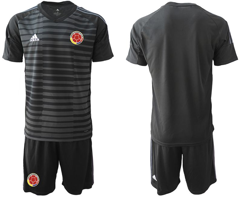Men 2019-2020 Season National Team Colombia black goalkeeper Soccer Jerseys