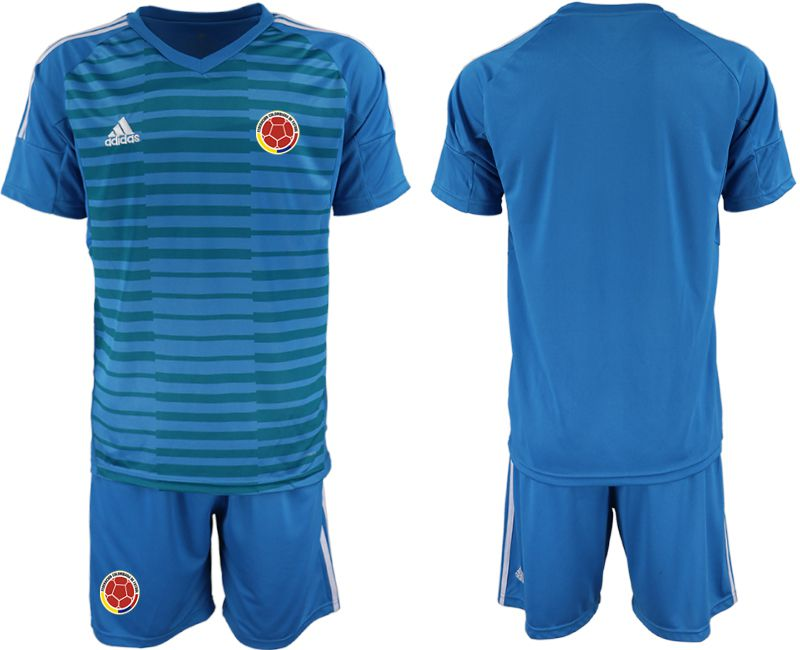 Men 2019-2020 Season National Team Colombia blue goalkeeper Soccer Jerseys